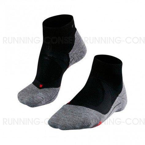 FALKE Chaussettes Running RU4 Cushion Short Homme Noir / Gris