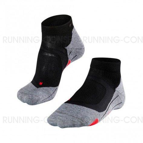 FALKE Chaussettes Running RU4 Cushion Short Femme Noir / Gris