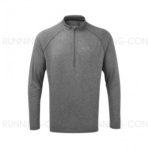 RONHILL Tee-shirt manches longues Zip Everyday   Grey marl