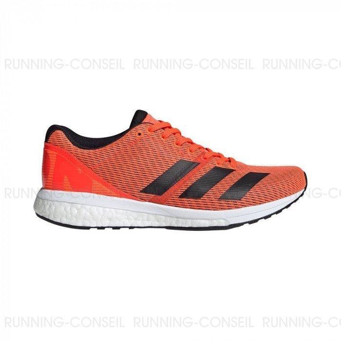 Chaussure de running Adidas Adizero Boston 8 Femme - Orange/Noir
