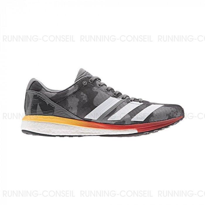 De Grisrougeorange Adidas 8 Chaussure Homme Adizero Running Boston 3L54RAj