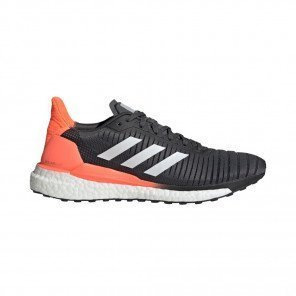 ADIDAS SOLAR GLIDE 19 Homme | Grey Six / Cloud White / Signal Coral