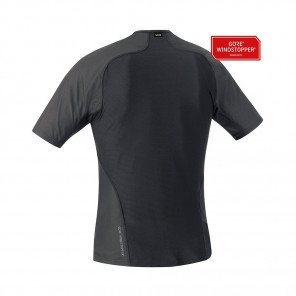 GORE® WINDSTOPPER BASE LAYER MAILLOT MANCHES COURTES HOMME   BLACK
