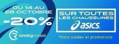 opération asics -20% chaussures asics running conseil